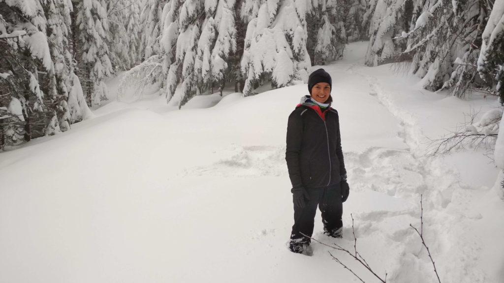 Takie tam w śniegu