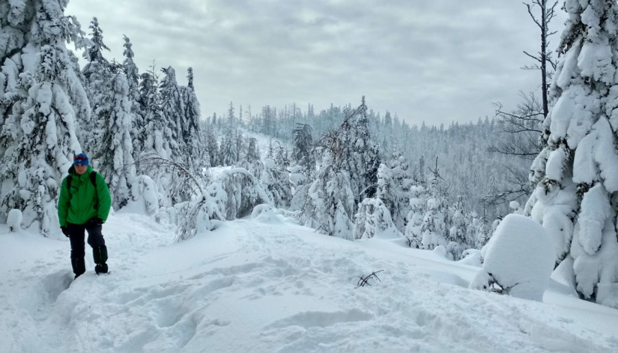 Beskid Mały po raz pierwszy, czyli o zimowej wyprawie na Potrójną z Rzyk