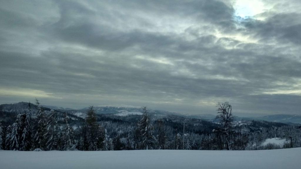 Widok na Babią Górę ze szczytu Potrójnej