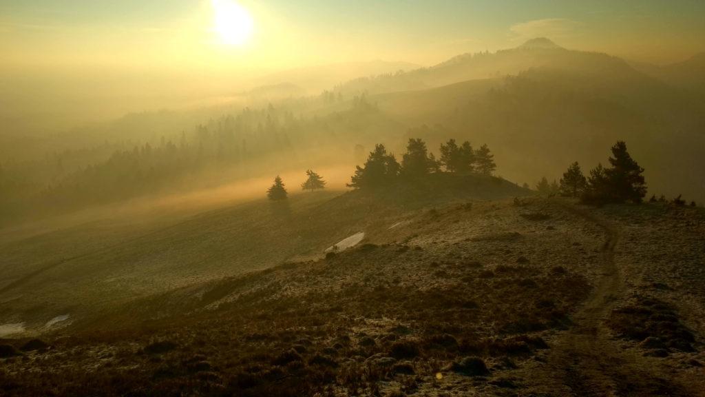 Pienińskie mgły o poranku