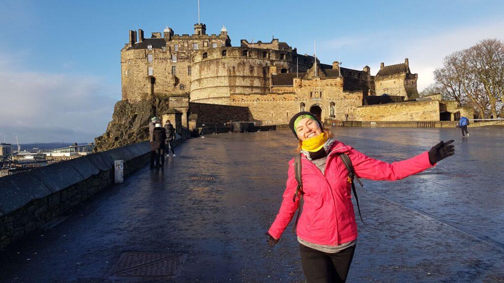 Słoneczko przy zamku, Edynburg