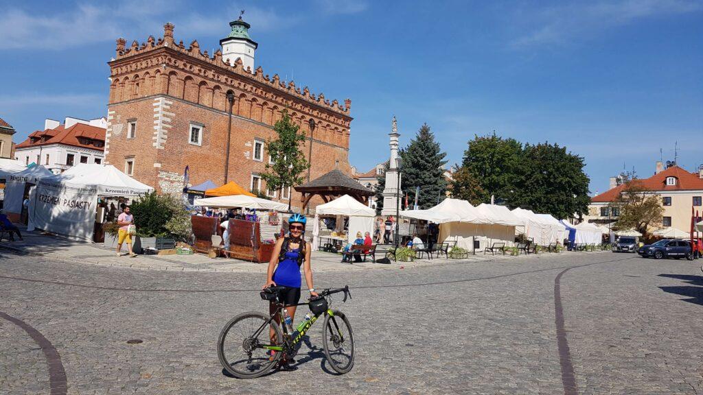 Ja w Sandomierzu, urlop rowerem